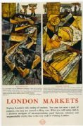 Vintage London underground poster - London Markets